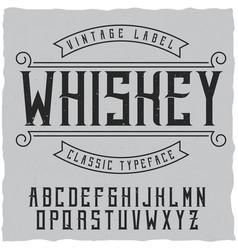Label font and sample design vector