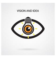 Light bulb and eye symbol vector