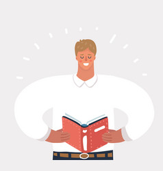 man reading a book vector image