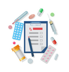 medical supplies set cartoon style vector image