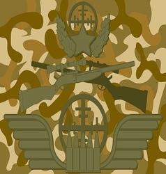 Military Logo Sniper vector image