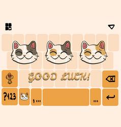 mobile keyboard template vector image