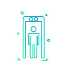 mobile phone icon design vector image