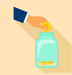 money store icon flat style vector image