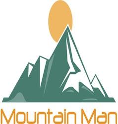 Mountain man vector