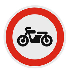 no bicycle icon flat style vector image
