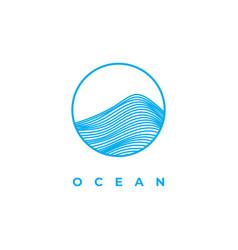 ocean wave logo design template vector image