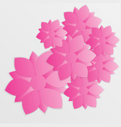 paper flower origami23 vector image