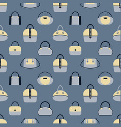 pattern of various fashionable women s handbags in vector image