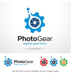 Photo and gear logo template vector