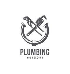 plumbing silhouette logo vector image
