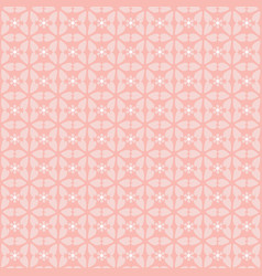 pretty seamless pink floral geometric vector image