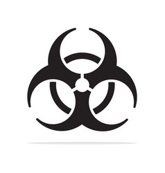 radioactive icon concept for design vector image