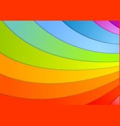 Rainbow waves background vector