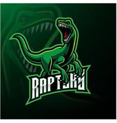 Raptor sport mascot logo design vector
