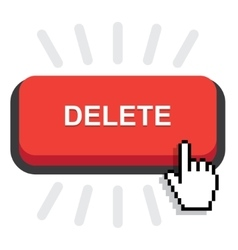 Red delete button vector