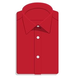 Red folded shirt vector