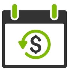 Refund Calendar Day Flat Icon vector