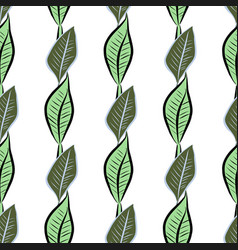 Seamless hand drawn leaves background good for vector