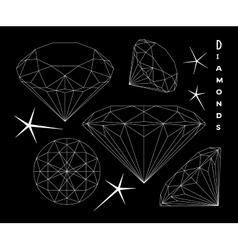 set diamonds vector image