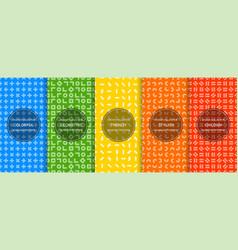Set simple seamless geometric patterns - bright vector