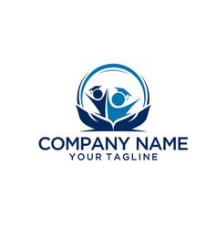 Smart graduate logo template vector
