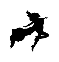 Superhero woman silhouette vector image