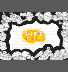 template different types muffin for menu vector image