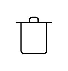 thin line trash bin icon vector image