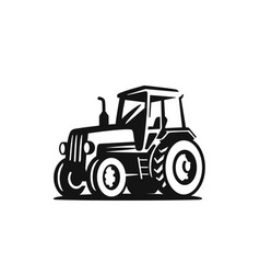 Tractor on white background agricultural machinery vector