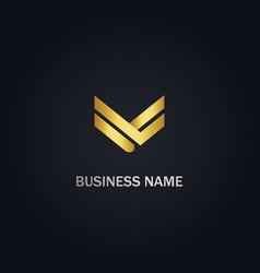 V company business logo vector