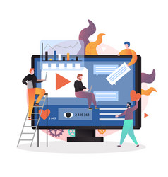 video content marketing strategy concept vector image