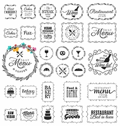 Vintage Restaurant Menu and Bakery Frame and Labe vector