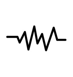 Wave frequency sound line style icon vector