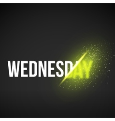 Wednesday sale energy explosion concept vector