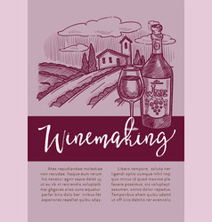 winery red or white wine winemaking homemade vector image