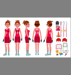 women s lacrosse lacrosse practice vector image