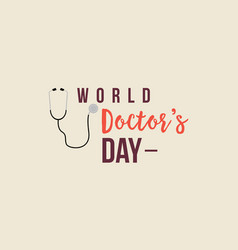 world doctor day flat style vector image