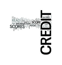 Z how to read credit scores text word cloud vector