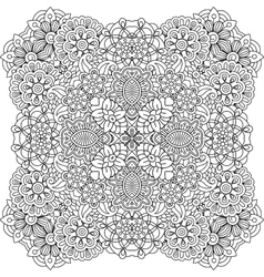 Beautiful colorless geometric patterns on white vector image vector image
