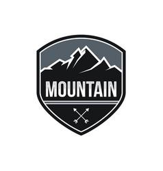 mountain expeditions logo design vector image