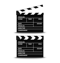 open and closed film flap on white background vector image