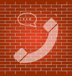 phone with speech bubble sign whitish vector image vector image