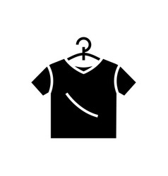 t-shirt icon black sign on vector image