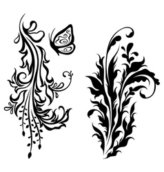 Vertical floral decorations vector image