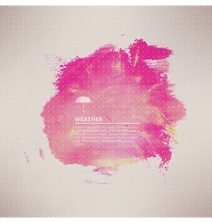 watercolor texture Pink grunge paper template vector image vector image