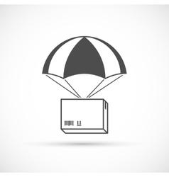 Box on a parachute icon vector image
