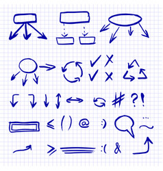 hand drawn set isolated on the vector image