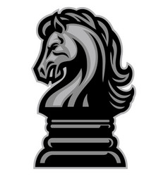 Knight horse chess vector