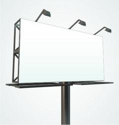 outdoor blank billboard vector image vector image